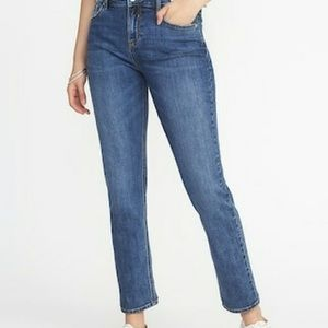 OLD NAVY Mid Rise Perfect Straight Mom Jeans